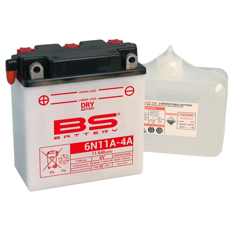 Batterie BS BATTERY conventionnelle avec pack acide - 6N11A-4