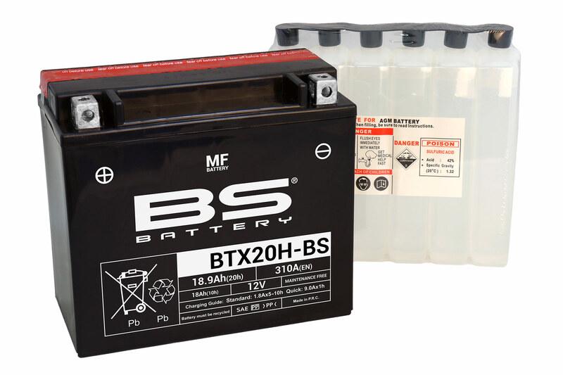 Batterie BS BATTERY Sans entretien avec pack acide - BTX20H