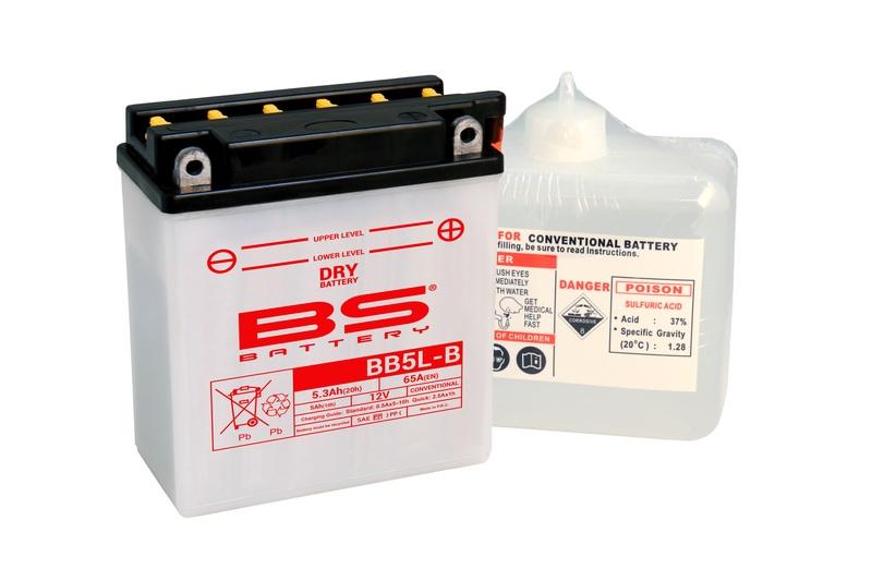 Batterie BS BATTERY Haute-performance avec pack acide - BB5L-B