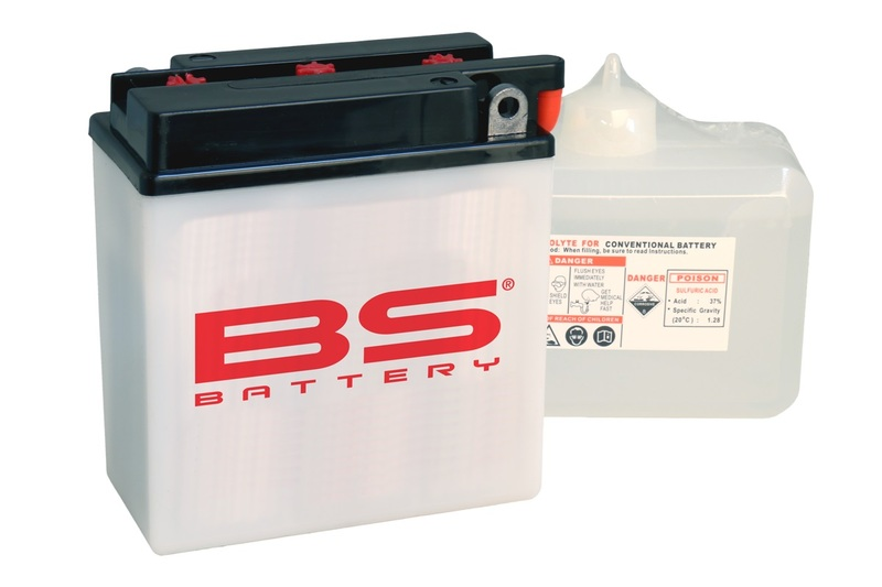 Batterie BS BATTERY Haute-performance avec pack acide - BB7L-B2