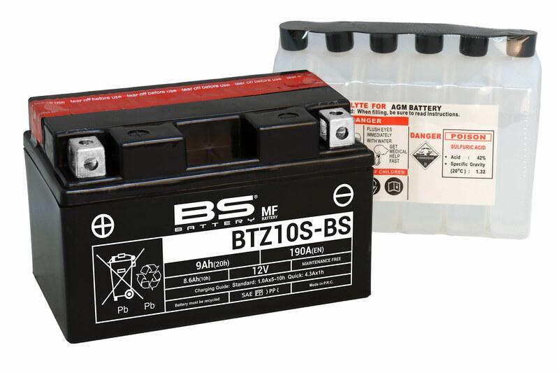 Batterie BS BATTERY Sans entretien avec pack acide - BTZ10S