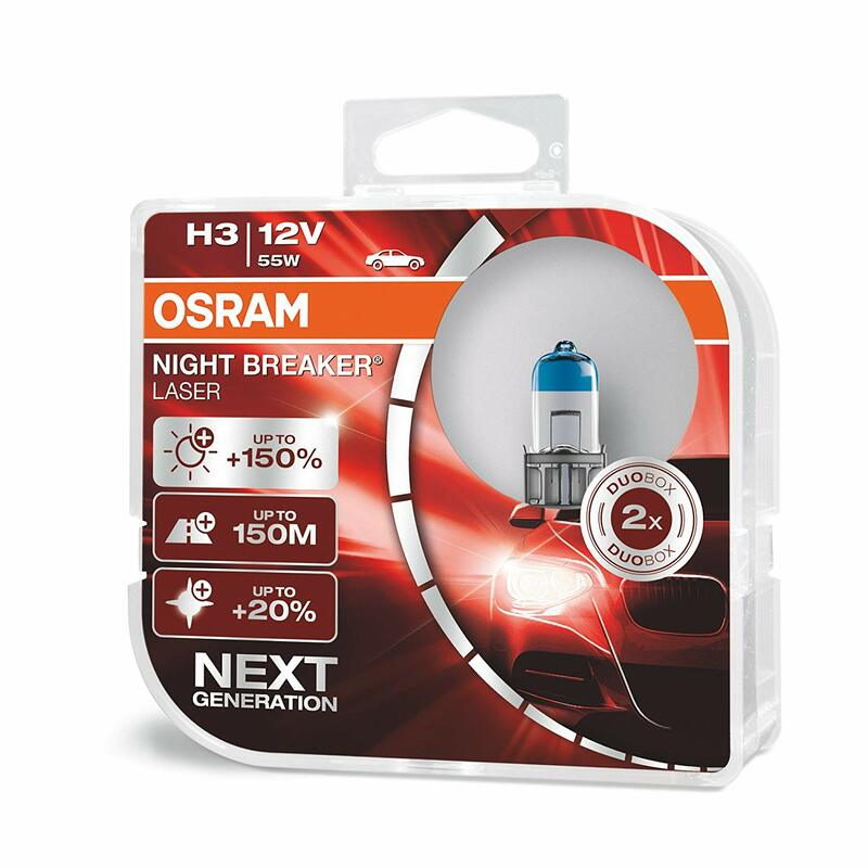 Ampoule OSRAM Night Breaker Laser H3 12V 55W - x1