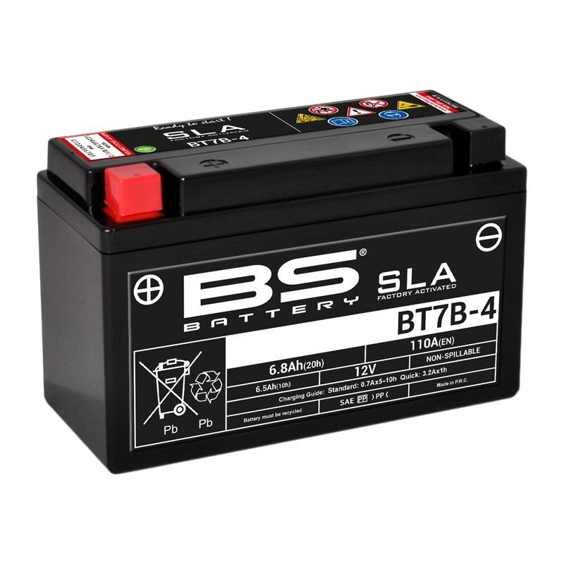 Batterie BS BATTERY SLA sans entretien activé usine - BT7B-4