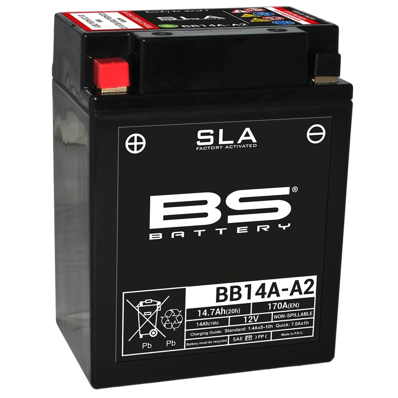 Batterie BS BATTERY SLA sans entretien activé usine - BB14A-A2