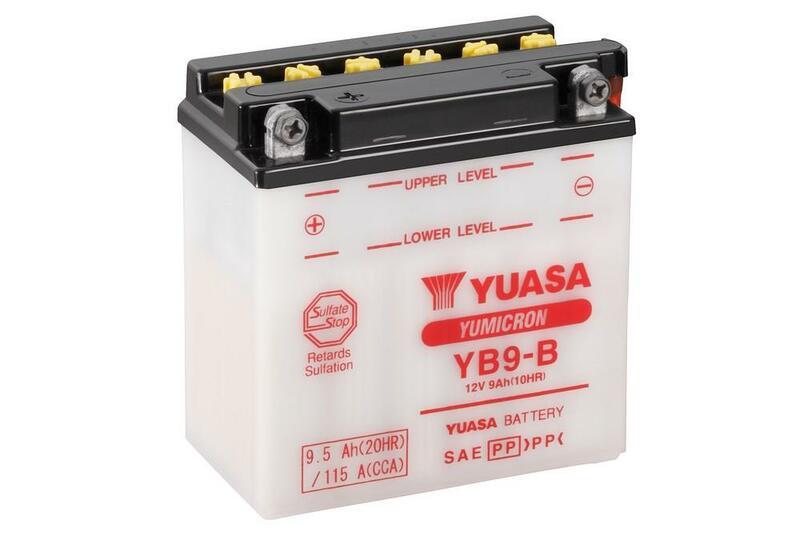 Batterie YUASA conventionnelle avec pack acide - YB9-B