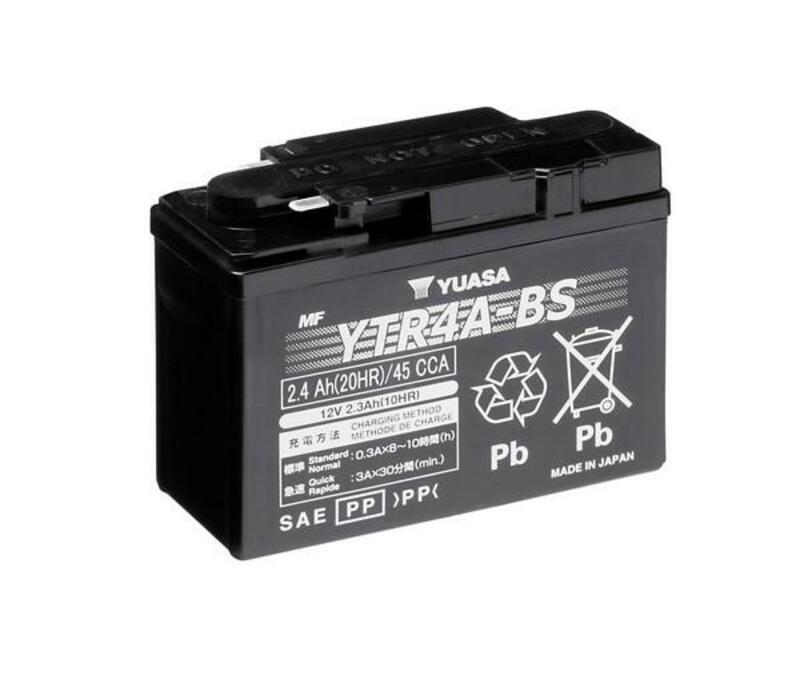 Batterie YUASA Sans entretien avec pack acide - YTR4A-BS