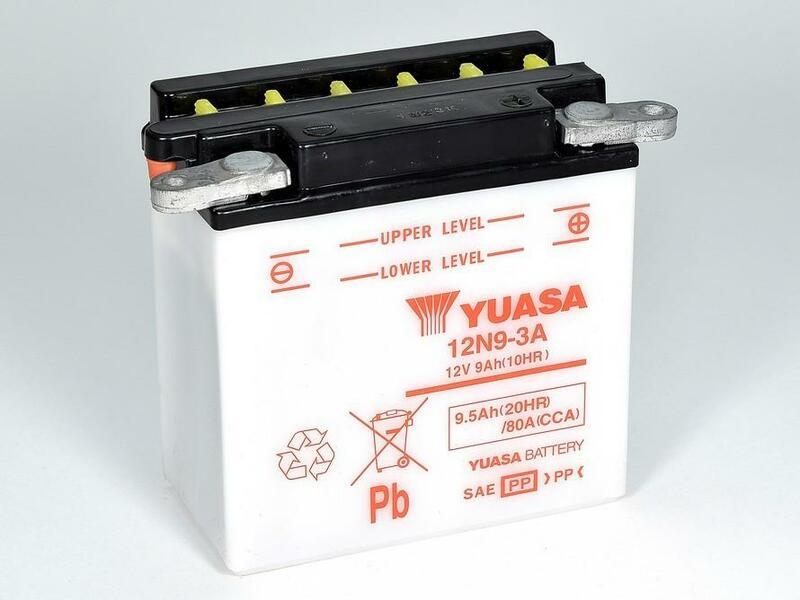 Batterie YUASA conventionnelle sans pack acide - 12N9-3A