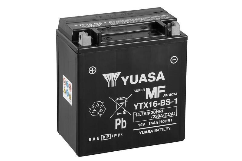 Batterie YUASA Sans entretien avec pack acide - YTX16-BS-1