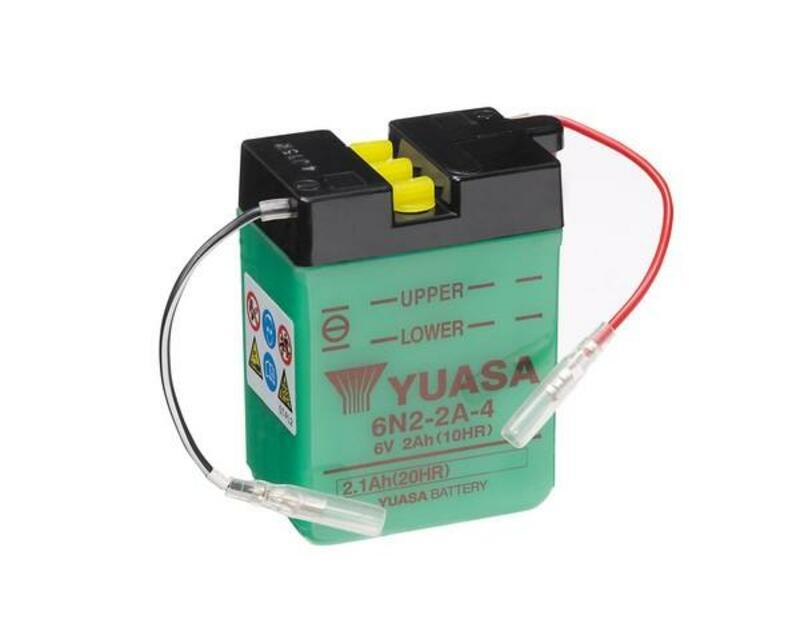 Batterie YUASA conventionnelle sans pack acide - 6N2-2A-4