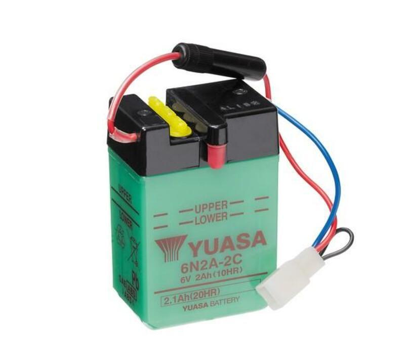 Batterie YUASA conventionnelle sans pack acide - 6N2A-2C