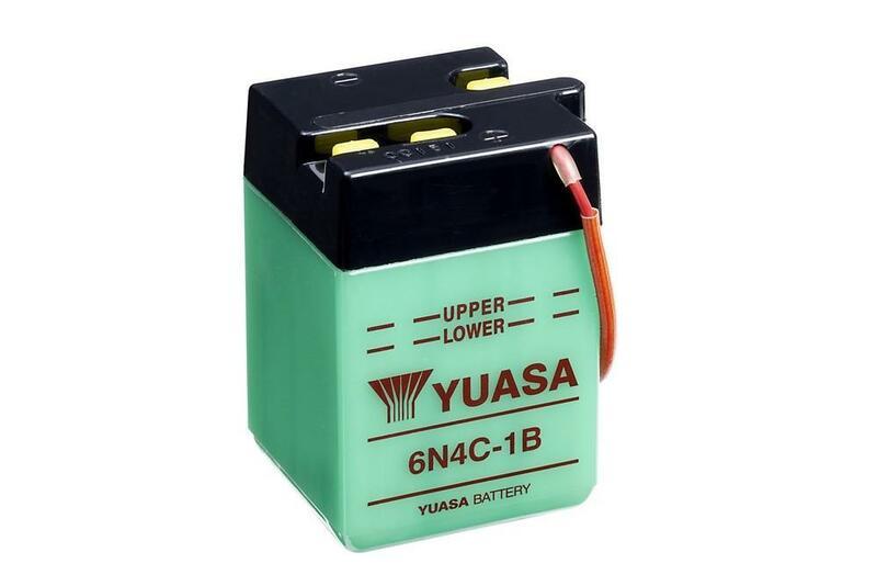 Batterie YUASA conventionnelle sans pack acide - 6N4C-1B