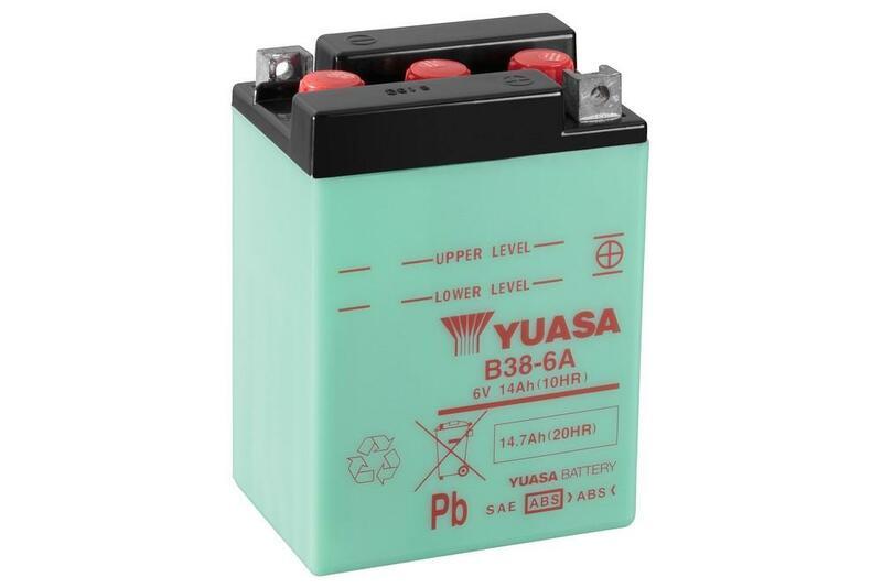 Batterie YUASA conventionnelle sans pack acide - B38-6A