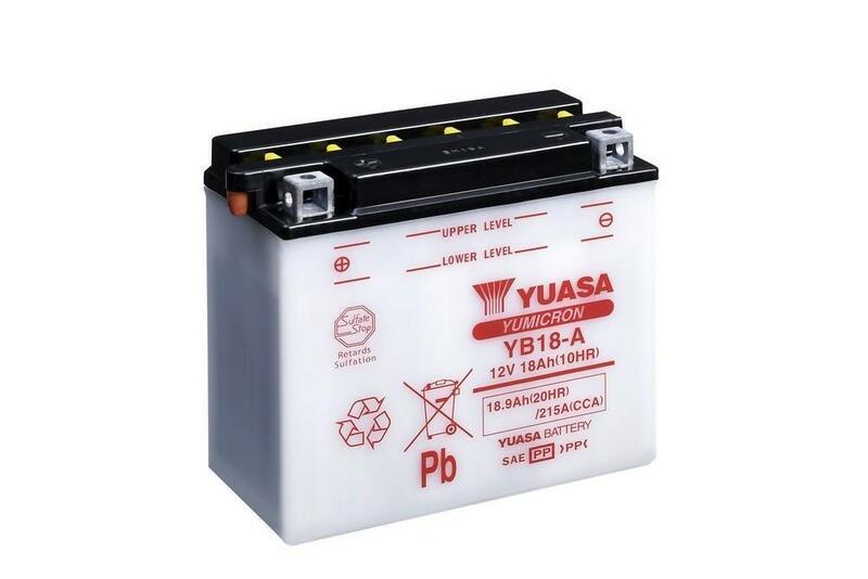 Batterie YUASA conventionnelle sans pack acide - YB18-A