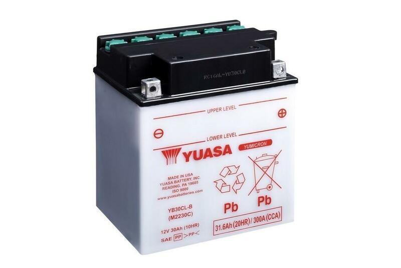 Batterie YUASA conventionnelle sans pack acide - YB30CL-B
