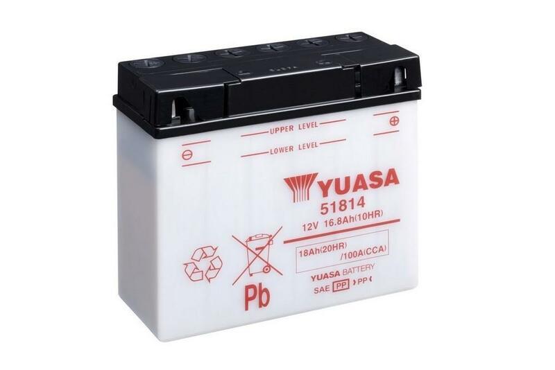 Batterie YUASA conventionnelle sans pack acide - 51814