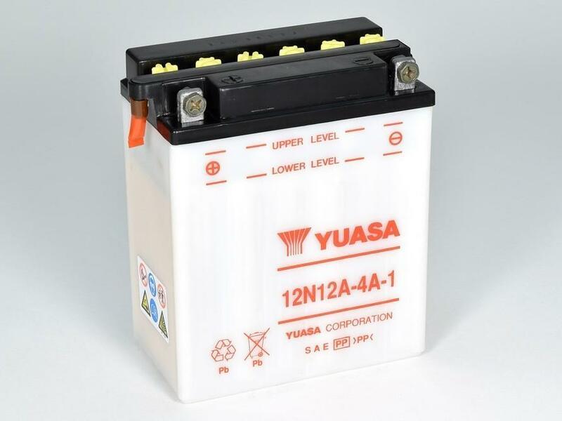 Batterie YUASA conventionnelle sans pack acide - 12N12A-4A-1
