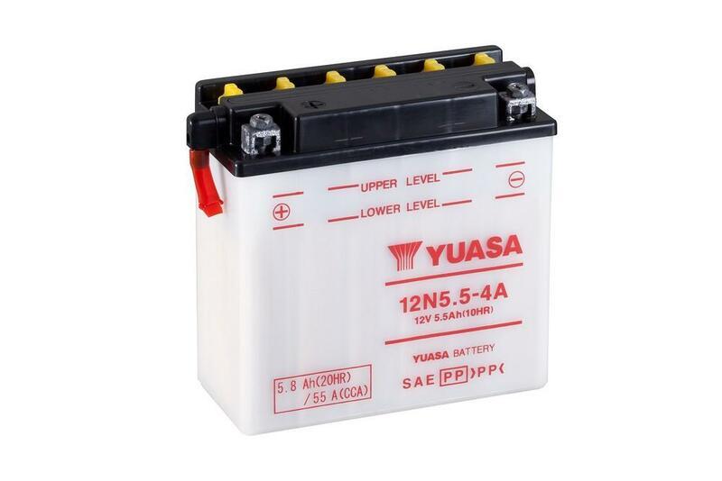 Batterie YUASA conventionnelle sans pack acide - 12N5.5-4A