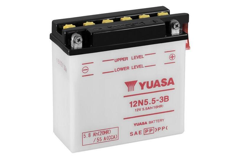 Batterie YUASA conventionnelle sans pack acide - 12N5-3B