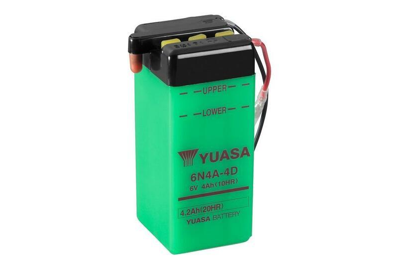 Batterie YUASA conventionnelle sans pack acide - 6N4A-4D
