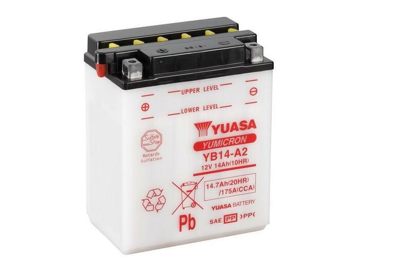 Batterie YUASA conventionnelle sans pack acide - YB14-A2