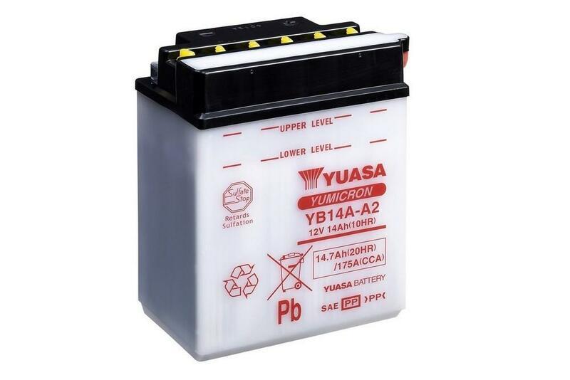 Batterie YUASA conventionnelle sans pack acide - YB14A-A2