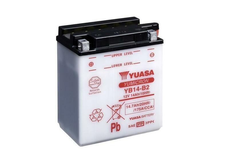 Batterie YUASA conventionnelle sans pack acide - YB14-B2
