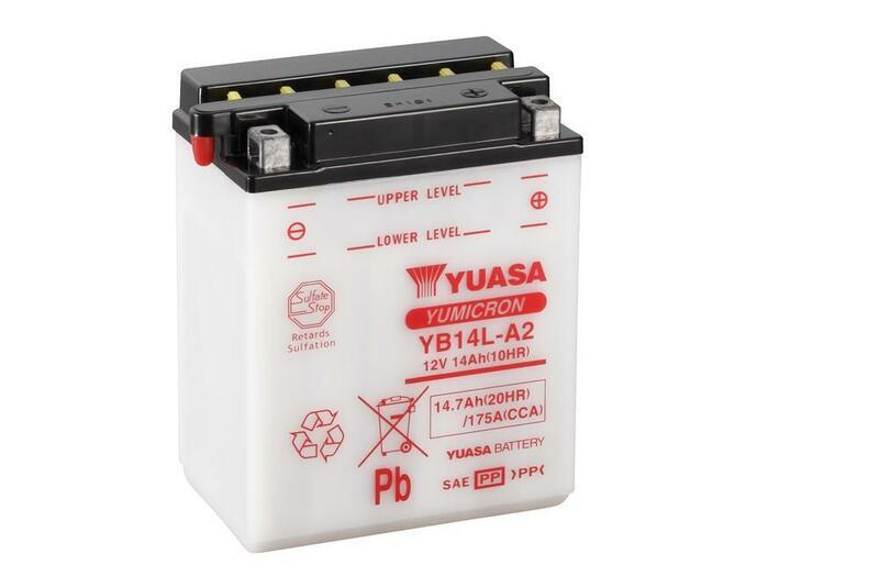 Batterie YUASA conventionnelle sans pack acide - YB14L-A2