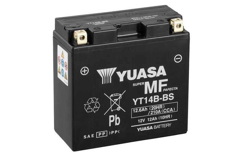 Batterie YUASA Sans entretien avec pack acide - YT14B-BS