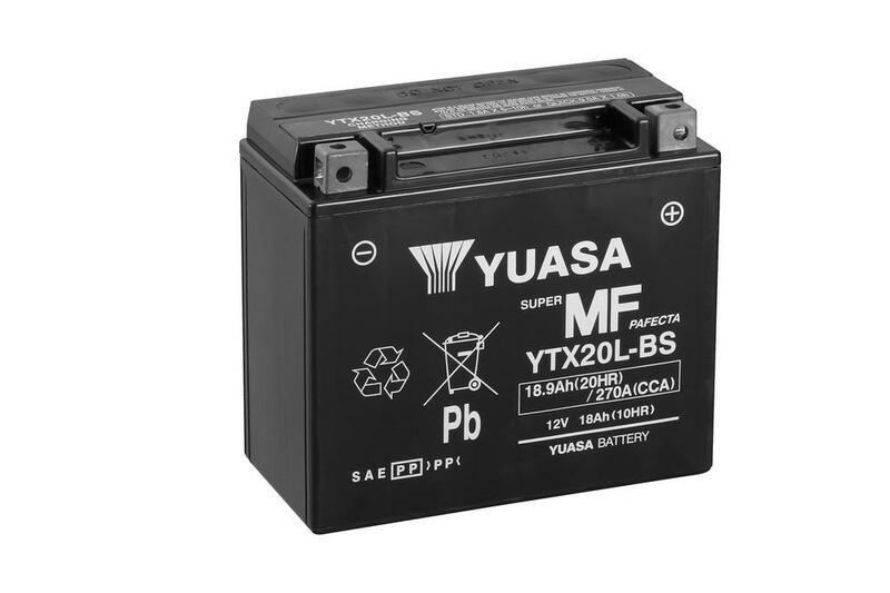 Batterie YUASA Sans entretien avec pack acide - YTX20L-BS