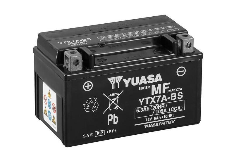 Batterie YUASA Sans entretien avec pack acide - YTX7A-BS