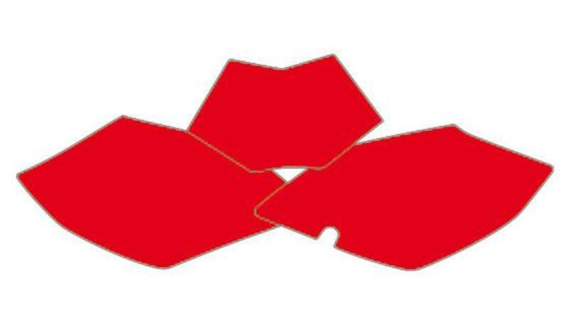 Fonds de plaque BLACKBIRD rouge Beta RR