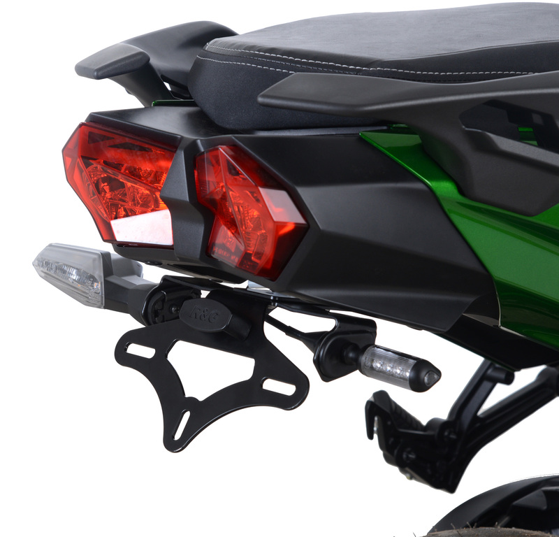 Support de plaque R&G RACING noir Kawasaki H2 SX