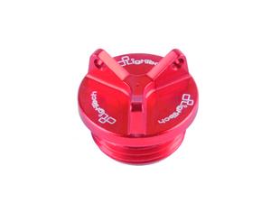 Bouchon de carter d'huile LIGHTECH 2 trous rouge M22 x 1,5