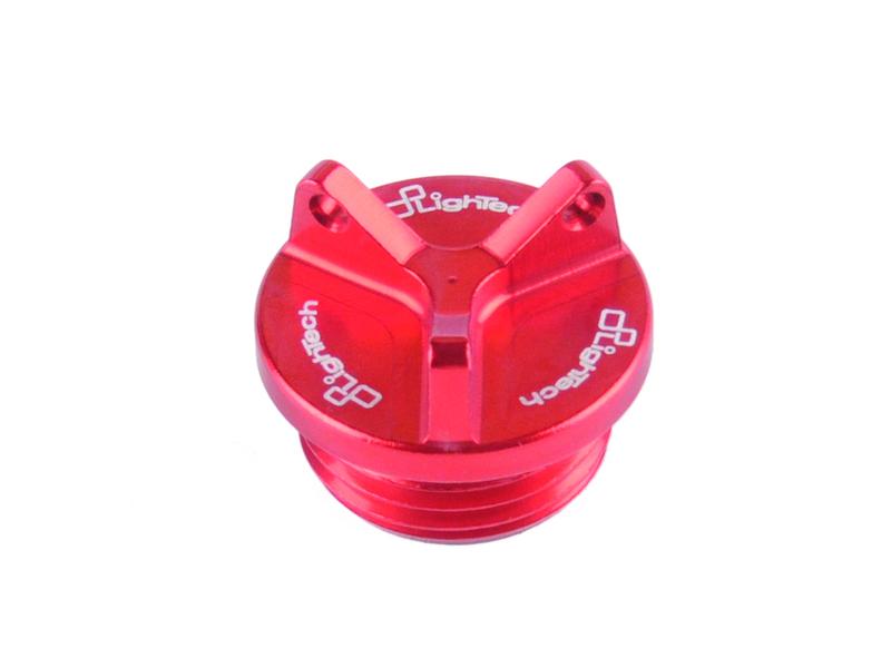 Bouchon de carter d'huile LIGHTECH 2 trous rouge M20 x 2,5