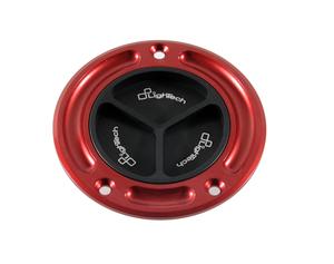 Bouchon de réservoir LIGHTECH noir/rouge à vis Ducati DIAVEL