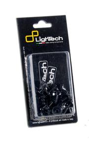 Kit vis de cadre LIGHTECH noir alu (21 pièces) Honda Cb500F
