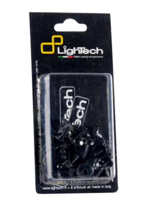 Kit vis de carénage LIGHTECH Ergal noir Yamaha T-Max 500