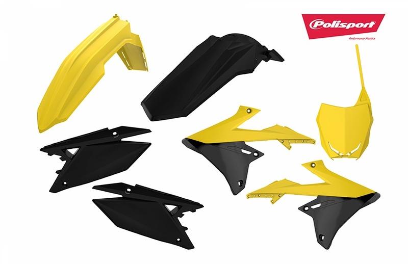 Kit plastiques POLISPORT jaune/noir Suzuki RM-Z450