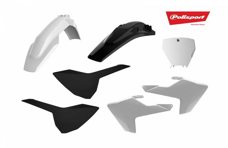 Kit plastiques POLISPORT blanc/noir Husqvarna TC/FC