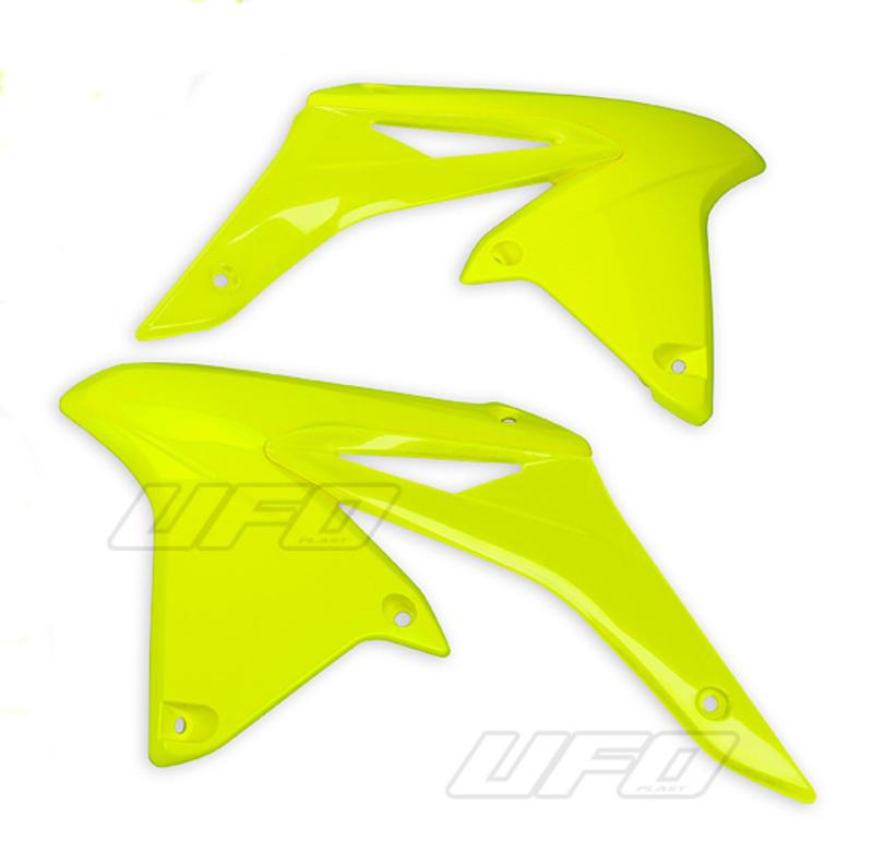 Ouïes de radiateur UFO jaune fluo Suzuki RM-Z250