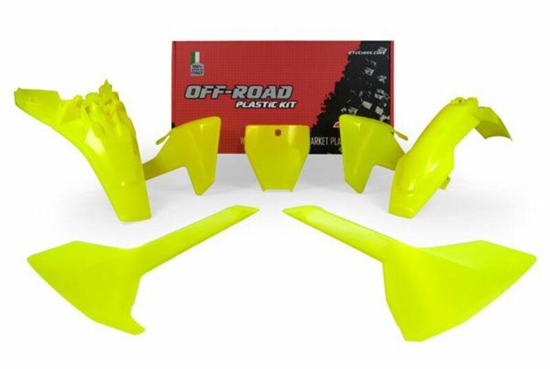 Kit plastique RACETECH jaune fluo Husqvarna TC85