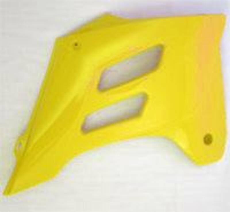 Ouïes de radiateur UFO jaune Gas Gas