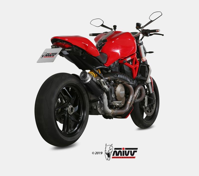 Silencieux MIVV GP Pro Carbon/casquette inox Ducati Monster 1200