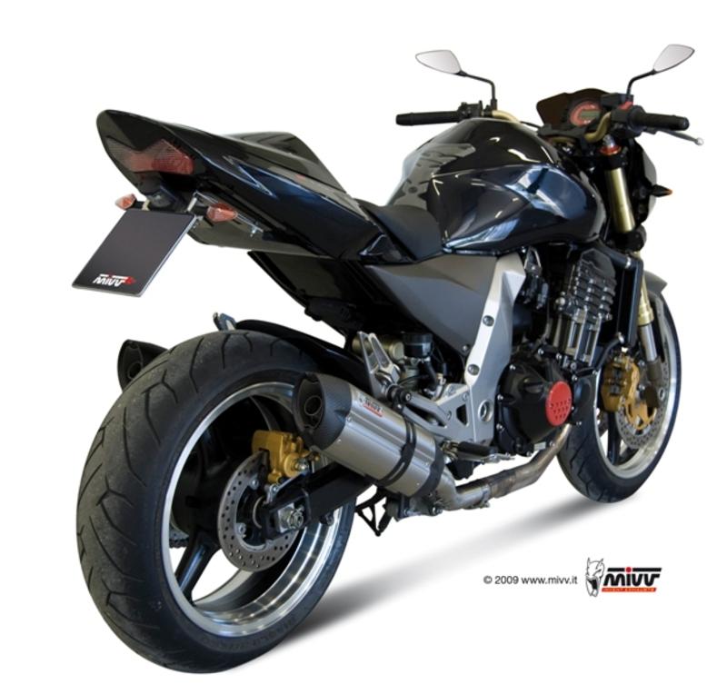 Silencieux double MIVV Suono inox/casquette carbone Kawasaki Z1000