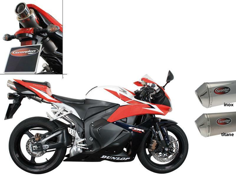 SILENCIEUX SCORPION STEALTH OVAL INOX POUR HONDA
