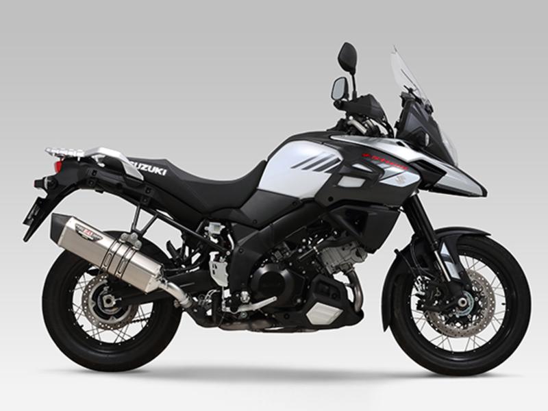 Silencieux YOSHIMURA Hepta Force Inox Satin/casquette carbone Suzuki V-Strom 1000
