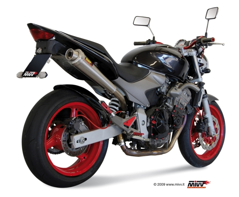 Silencieux MIVV X-Cone inox brossé Honda CB600F Hornet