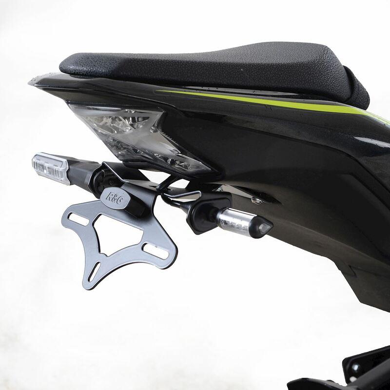 Support de plaque R&G RACING noir Kawasaki Z900