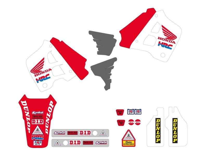 Kit déco TECNOSEL Team Honda USA 1991