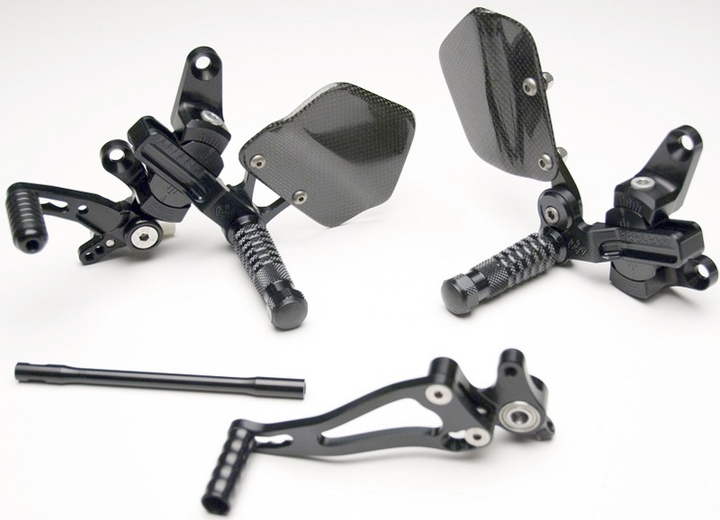 Commandes reculées ajustables GILLES TOOLING VCR38GT noir Ducati